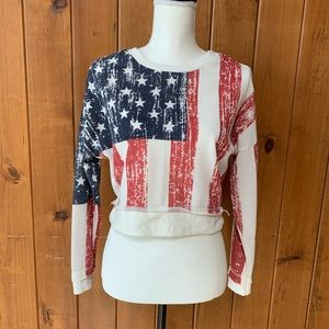 Rue 21 American flag cropped top size small
